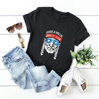 Women's HAVE A WILLIE NICE DAY Top Cotton Blouse Short Sleeve Funny Tee T-Shirt