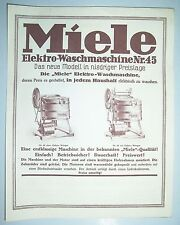 Werbeblatt Miele Elektro - Waschmaschine Nr. 45 Gütersloh 1930 ! (D