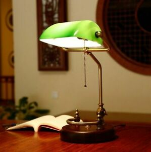 Lamp Shade Office Desk Lighting Decoration Metal Wood Glass Lights Fixture Decor