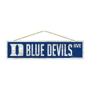 "Duke Blue Devils 4""x17"" Wood Sign Avenue Design [NEW] NCAA Street Banner Wall"
