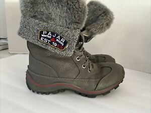 Pajar Alice womens size US 8-8.5 gray Waterproof Insulated Winter snow boots fur