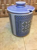 HORNSEA POTTERY TAPESTRY Vintage 10cm Lidded Jam Preserve Pot MID CENTURY RETRO