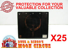 25x PC COMPUTER GAME SOFTWARE CARDBOARD CD CASE -CLEAR PROTECTIVE BOX PROTECTOR