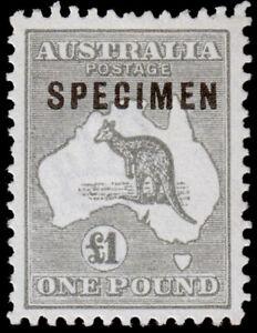 Australia Scott 57, Gray, Specimen (1916) Mint VLH XF M