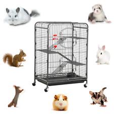 37'' Tall Rolling Small Animal House Cage Cat Ferret Chinchilla Squirrel Hutch