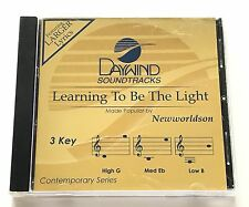 Daywind - Newworldson - Learning to Be the Light - accompaniment track cd new