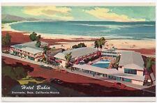 Artist Rendering Postcard Hotel Bahia in Ensenada, Baja California Mexico~106581