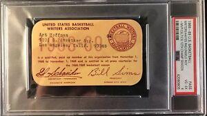 1968-69 Boston Celtics 10 Champs/Wes Unseld MVP Ticket Pass PSA E. Hayes Debut