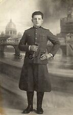 Wwi Italian Large Photo- Regia Esercito- Portrait- Elite Soldier- Zouave Fez