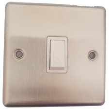 SECTOR  SST714 BRUSHED STAINLESS STEEL 10A AMP PLATE WALL SWITCH BELL PUSH