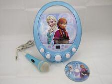Disney Frozen Elsa & Anna CD Player Karaoke Machine with Real Mic