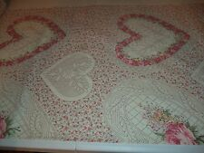VINTAGE WISTFUL BATISTE HEART PRINT FABRIC * 7+ YARDS IN STOCK - BY THE YD