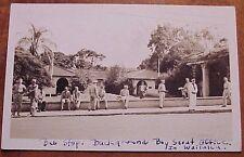 1940's Wailuku Maui Bus Stop Boy Scout Office Servicemen TH Hawaii RPPC