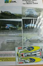 Decals 1/43 réf 827 Subaru WRC SOLBERG WALES 2004