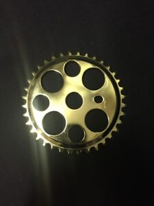 Nos Lowrider Lucky 7 Gold 36t Sprocket 1/8 BMX Chainring Gt Micargi Electra Dyno