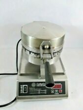 CoBatCo MD10SSE-L Commercial Stainless Steel Single Waffle Cone Maker with Tray