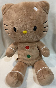 """BUILD-A-BEAR Hello Kitty Gingerbread Plush Toy Collectible Doll 20"""" Brown/Tan"""