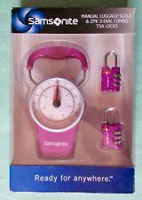Samsonite Manual Luggage Scale & 2 Three Dial Locks