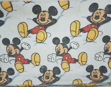 Mickey Mouse Vintage Kids Blanket Throw - Polyester Blend - White 84 X 68 Zzzzzz