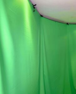 Green screen Chroma Key Green 6m X 4m Zoom Tik Tok Tv Film Background