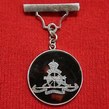 Original: Silver & Shell Royal Artillery Sweetheart Brooch Badge-British Army