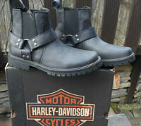 43 44 schwarz e Harley Davidson Leder cowboy Western Stiefel Stiefelette Boots