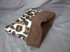 Leopard print snuggle sack for hedgies, rats, sugar gliders, ferrets, cavies