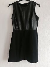 UK 14 FAUX LEATHER BLACK DRESS SUMMER/TOWIE/PARTY/CHELSEA/IBIZA/XMAS/WINTER NEW