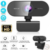 Webcam With Microphone Real Full HD 1080P Streaming Camera For PC MAC Laptops US