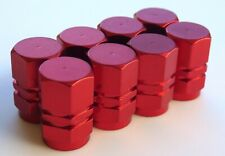 Tire Valve Stem Caps For Car, Truck, Bike, Motorcycle (2 Sets - Red)