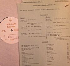RADIO SHOW:DICK CLARK GOLD 75 LOST LOVE! RAY CHARLES, FRANKIE VALLI, ROY ORBISON