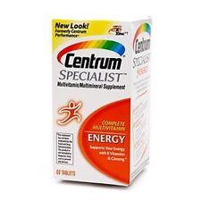 Centrum Specialist Energy Tabs 60 ea