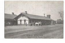 Postcard B. & M. Train Station Milford New Hampshire USA UP    (A22)