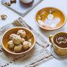 Wooden Plate Round Serving Tray Walnut Wood Dish Dessert Fruit Platter shan