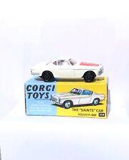 "Corgi 258 Volvo P1800 1/43 ""The Saints Car""  Red Label with Repro Box"