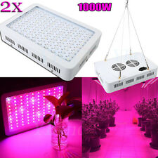 2PCS 1000W Full Spectrum LED Growing Grow Light For Hydro Plants Flower Fruits