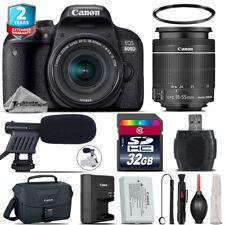 Canon EOS Rebel 800D T7i + 18-55mm IS STM + Shoutgun Mic + UV + Case - 32GB Kit