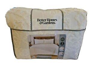NIP Better Homes and Gardens Ivory Tufted Medallion Full/Queen Comforter Set 3pc