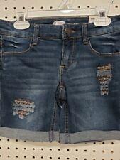 Girls Kids Youth SO Bermuda Embellished Jean Shorts NEW Size 8
