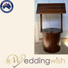Wedding Wishing Well - Round Timber Rustic Stain Wooden Card Box Engagement 21st