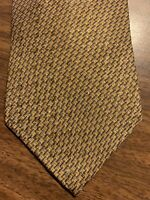 A28 NAUTICA Men's Tie Ted Gold Foulard 100% Silk Vintage