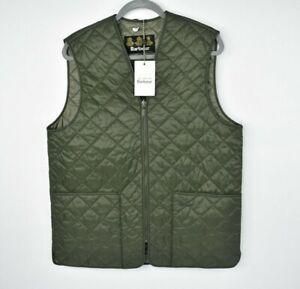NEW Barbour Men's Belmont Quilted Zip In Liner Vest / Gilet - Green Size M