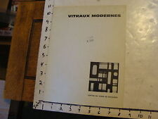 vintage art catalog: Vitraux Modernes, centre du verre de boussois, 1961