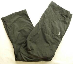 New Mountian Hardwear Mens Dark Gray Castil Convertible Hiking Pants Shorts 38