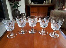 THOS WEBB CRYSTAL SHERRY GLASSES SET 5 - VGC