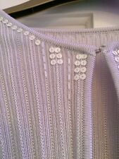 Marks & Spencer M&S Silver Cardigan Sequences  Size 12