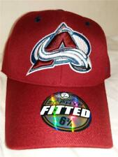 New Colorado Avalanche Mens Sizes 6 3/4-7/8-7 3/4 -8 Zephyr Red Fitted Cap Hat