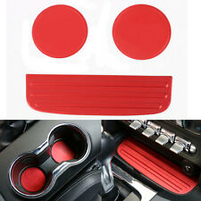 3x Interior Water Cup Holder Pad Trim Aluminum Alloy For Ford Mustang 2015-2016