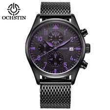 New Fashion Men's Mesh Bracelet Date Display Waterproof Chronograph Wrist Watch