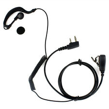 Ear Hook Earpiece Headset 2-Pins Connector PTT MIC KENWOOD Baofeng PUXING Radio